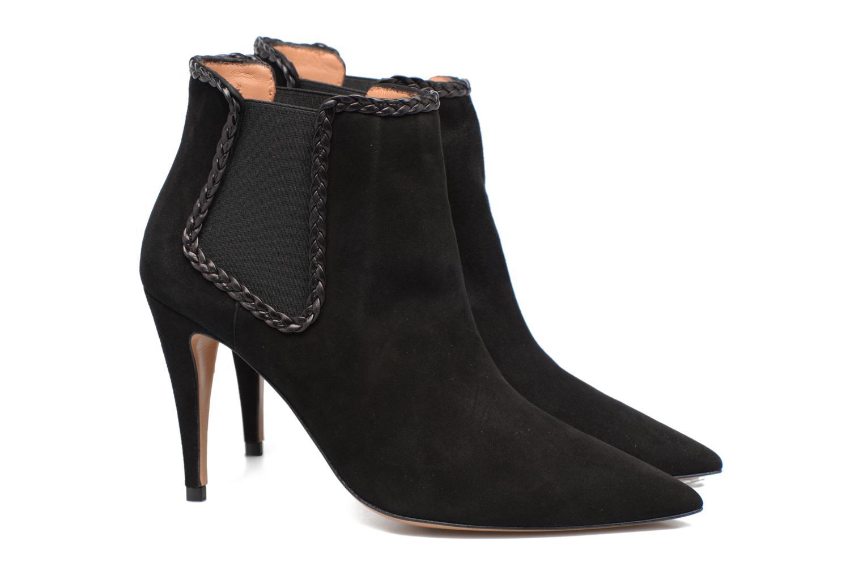 Bottines et boots Pura Lopez BNAL160B Noir vue 3/4