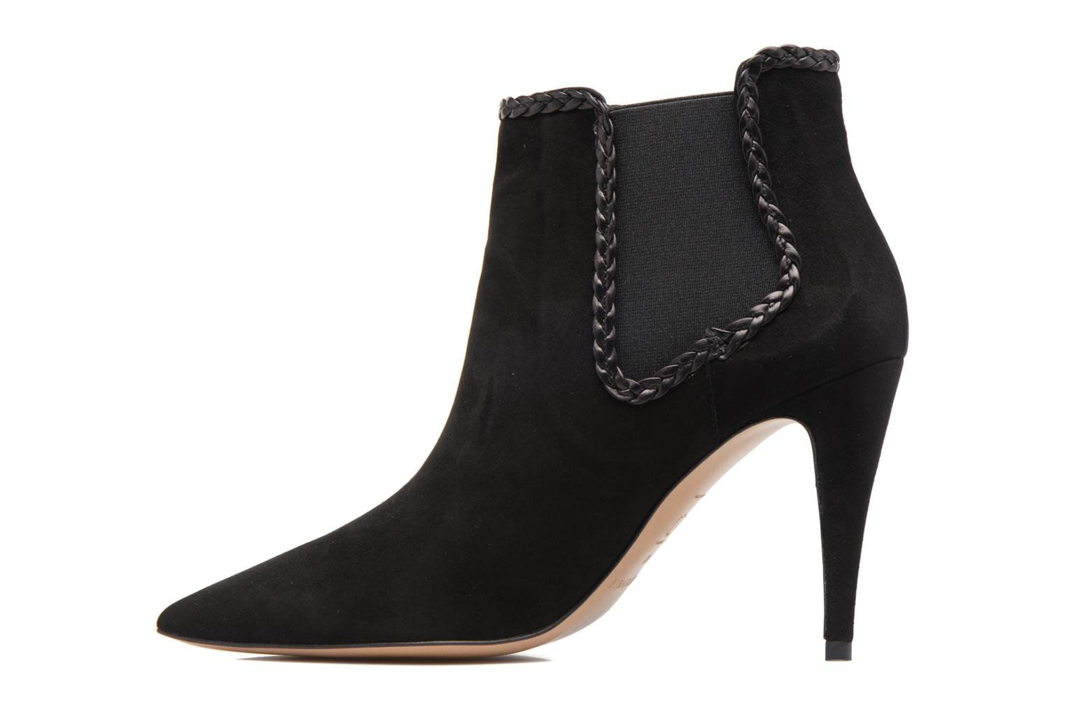 Ankle boots Pura Lopez BNAL160B Black front view