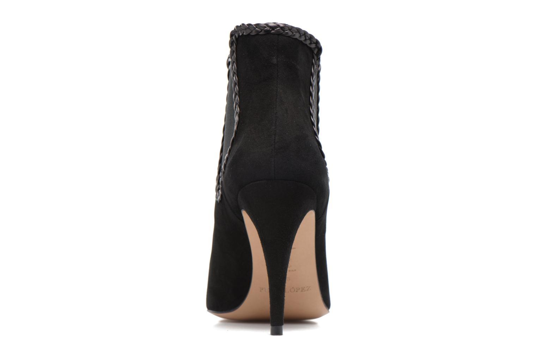 Bottines et boots Pura Lopez BNAL160B Noir vue droite