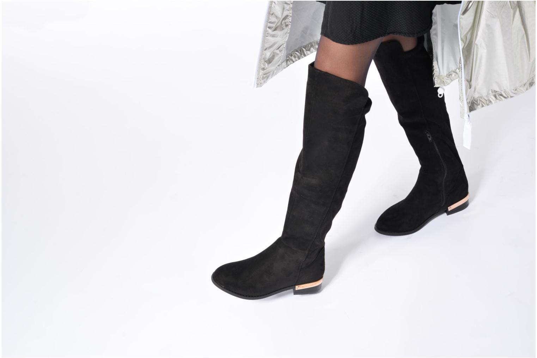 Bottes I Love Shoes THIANA Noir vue bas / vue portée sac
