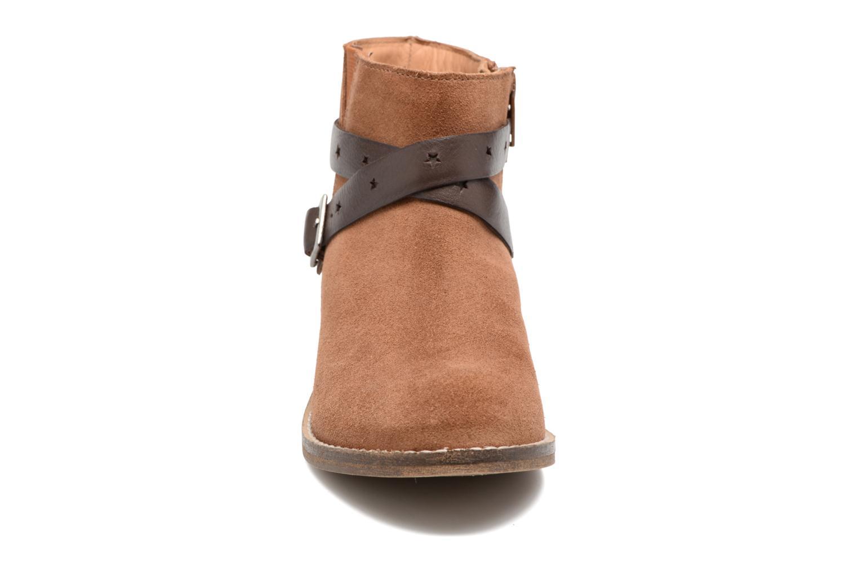 Stivaletti e tronchetti I Love Shoes SELIA LEATHER Marrone modello indossato