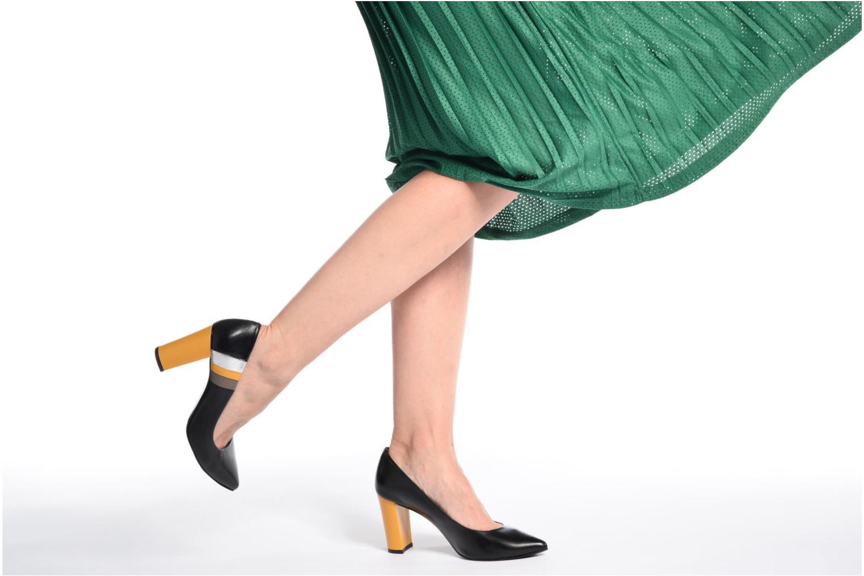Zapatos de tacón Made by SARENZA Snow Disco #5 Negro vista de abajo