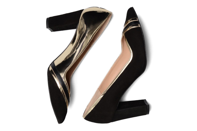 Shoe Officer #6 Cuir Velours Noir + Cuir Lisse Noir