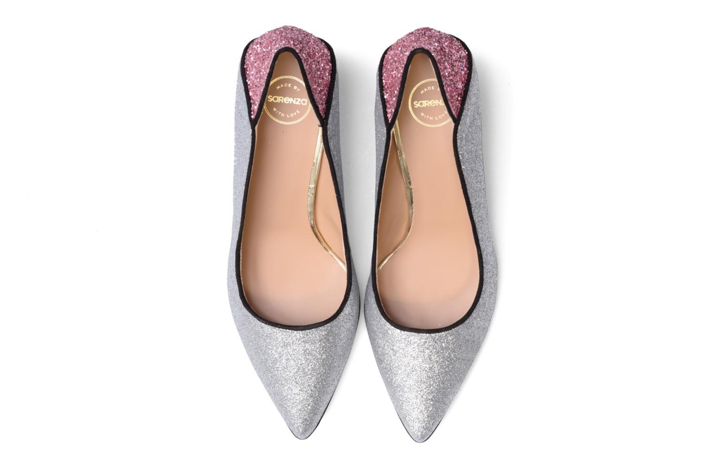 Escarpins Made by SARENZA Crazy Seventy #4 Argent vue portées chaussures