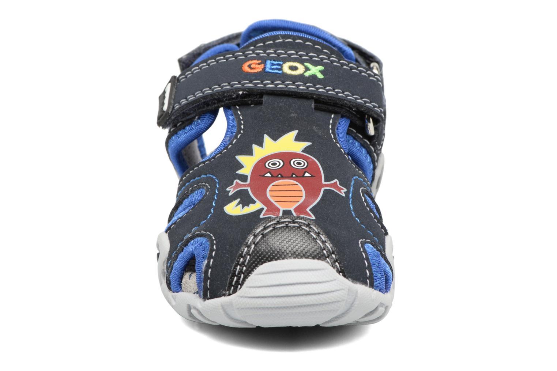 Sandales et nu-pieds Geox B SANDAL KRAZE A Bleu vue portées chaussures