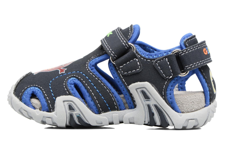 Sandales et nu-pieds Geox B SANDAL KRAZE A Bleu vue face