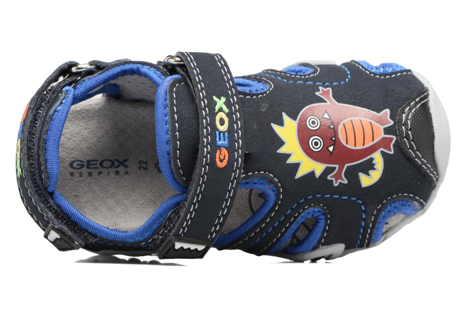 Sandales et nu-pieds Geox B SANDAL KRAZE A Bleu vue gauche