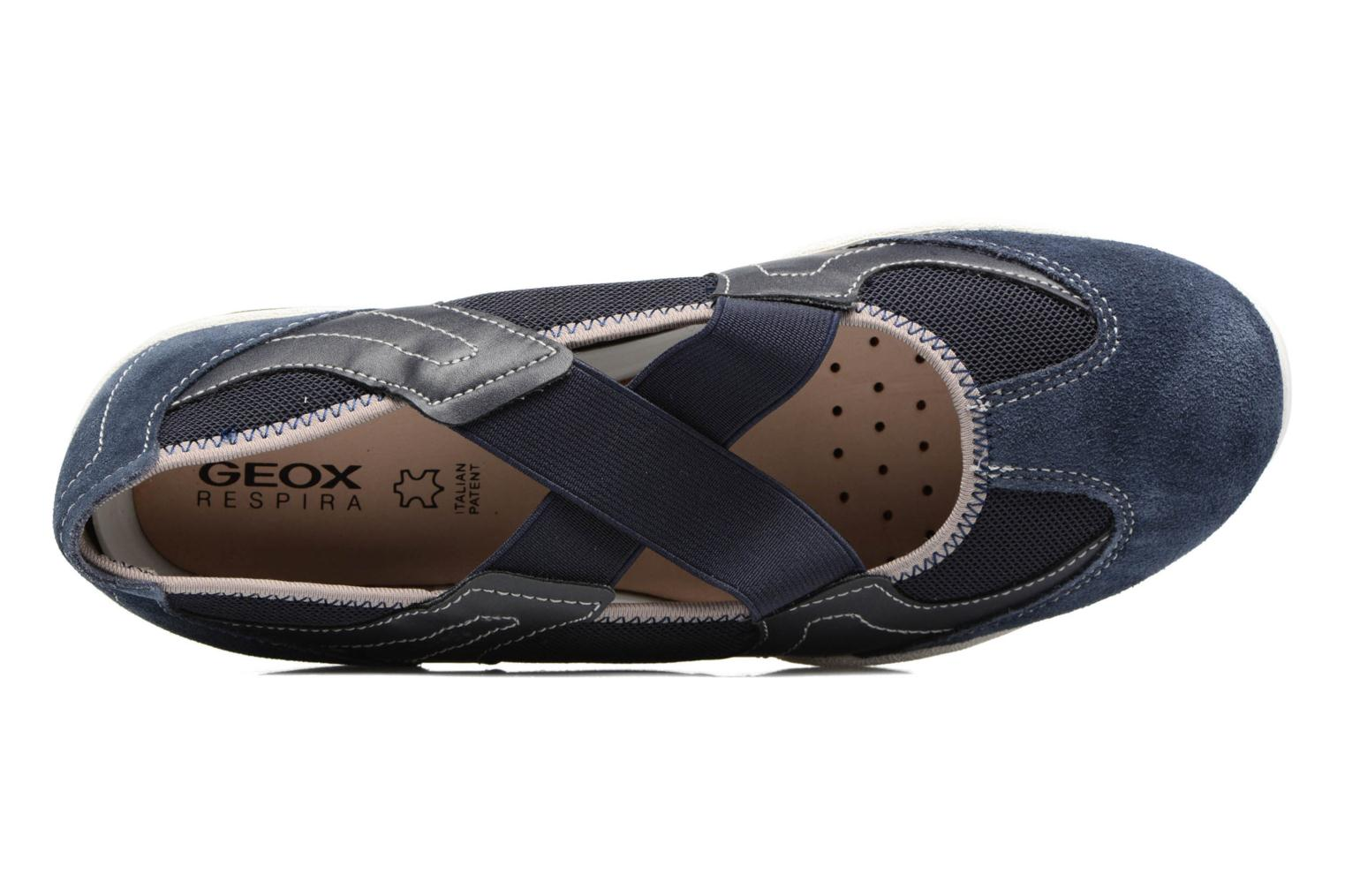 Ballet pumps Geox D ARROW A Blue view from the left