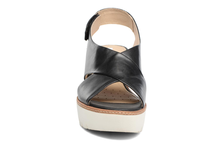 Sandales et nu-pieds Geox D DOMEZIA A Noir vue portées chaussures