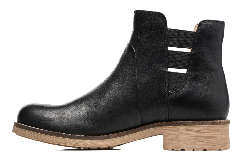 Boots en enkellaarsjes Geox D NEW VIRNA D Zwart voorkant