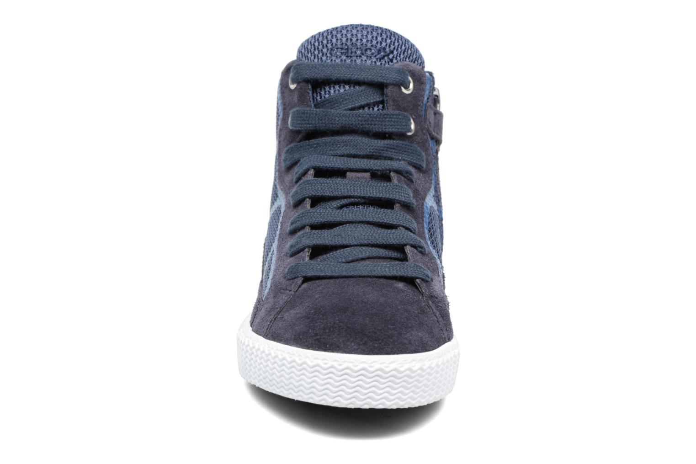 Baskets Geox J SMART BOY C Bleu vue portées chaussures