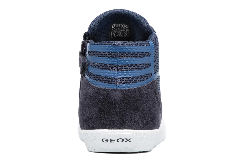 Baskets Geox J SMART BOY C Bleu vue droite