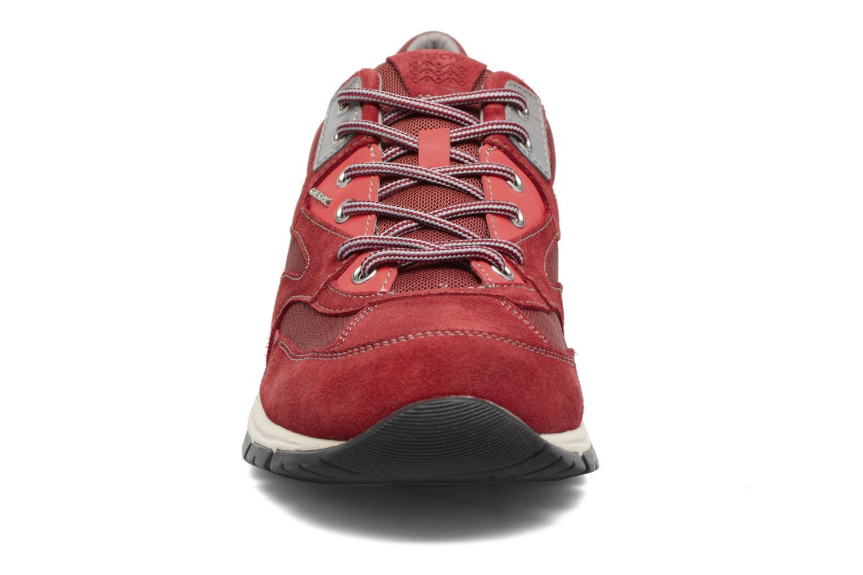 Baskets Geox U DELRAY A Rouge vue portées chaussures