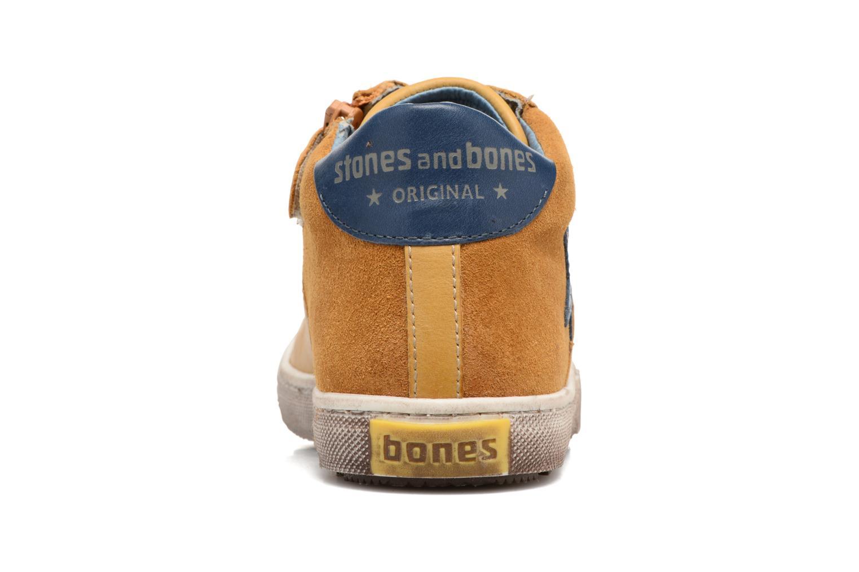 Baskets Stones and Bones Lato Jaune vue droite