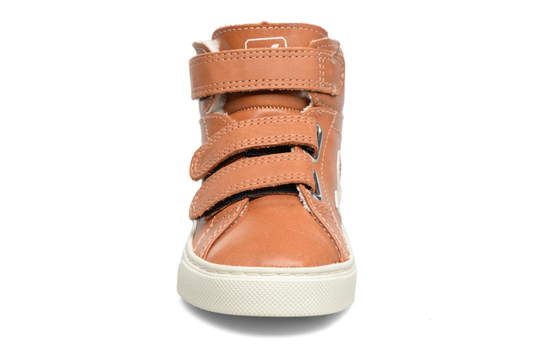 Baskets Veja Esplar Mid Small Velcro Fured Marron vue portées chaussures