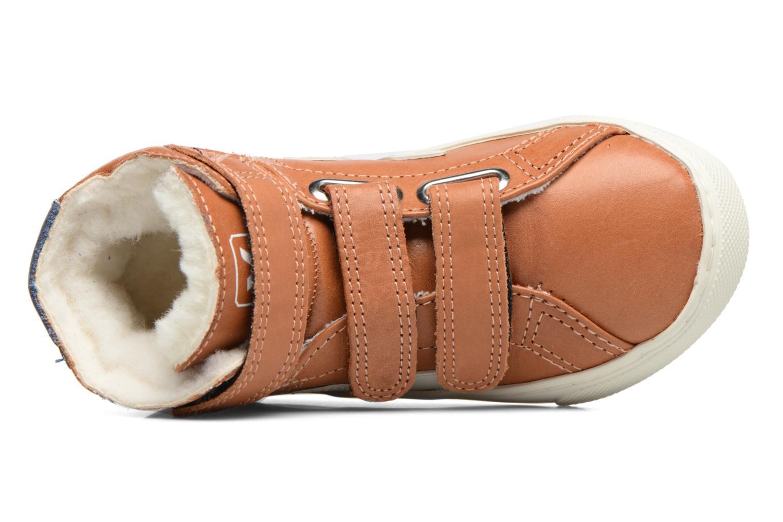 Baskets Veja Esplar Mid Small Velcro Fured Marron vue gauche