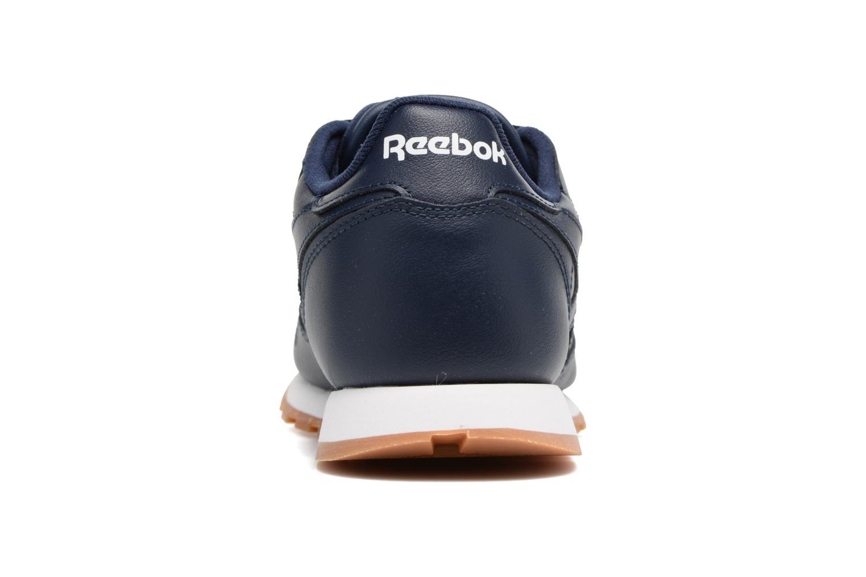 Baskets Reebok Classic Leather Gum Bleu vue droite