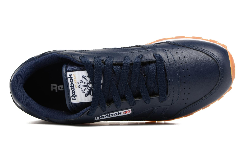 Baskets Reebok Classic Leather Gum Bleu vue gauche