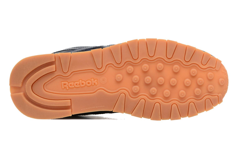 Baskets Reebok Classic Leather Gum Bleu vue haut