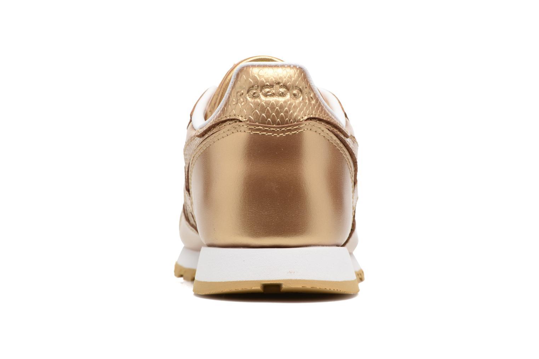 Baskets Reebok Classic Leather Metallic Or et bronze vue droite