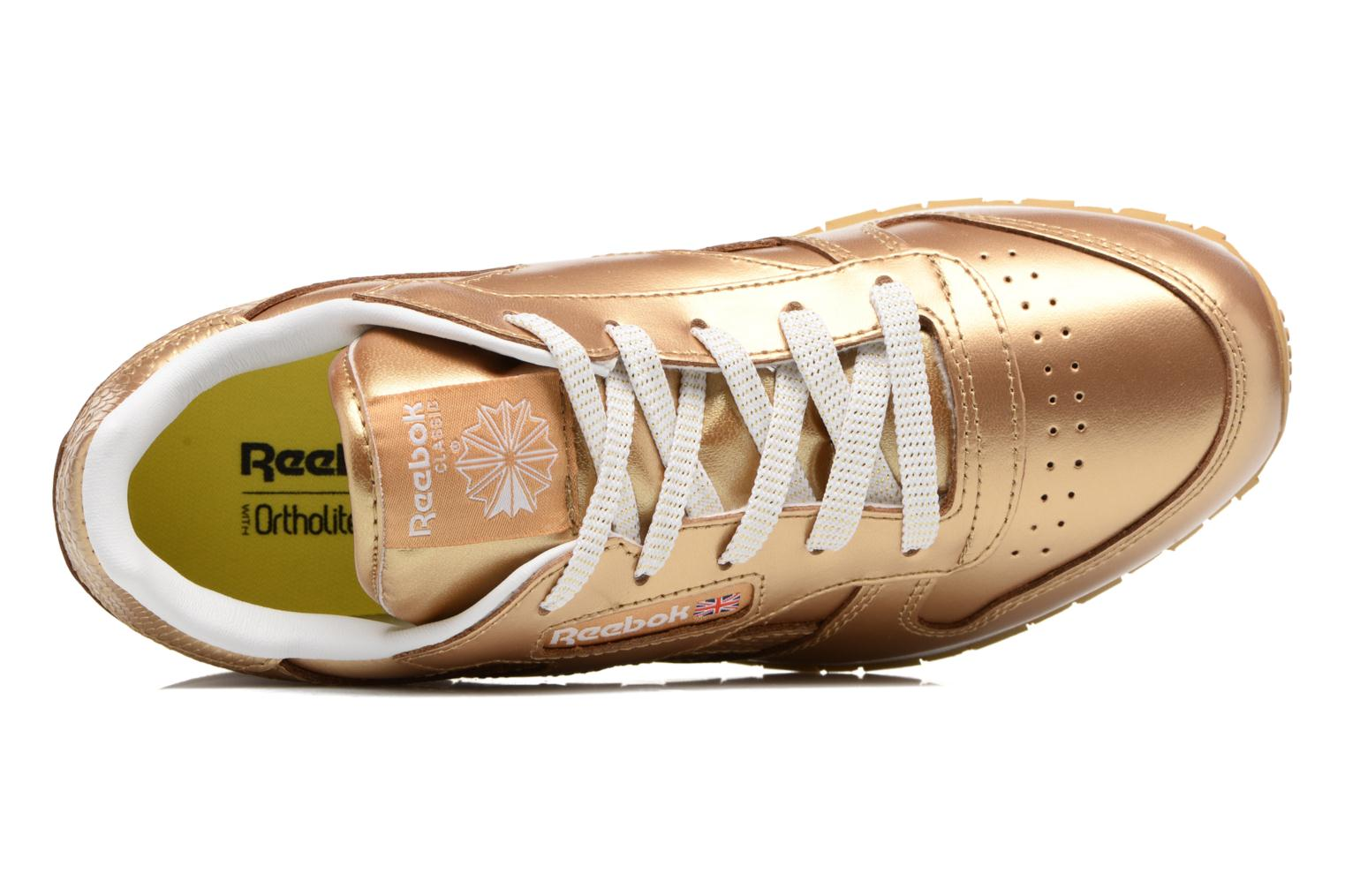 Classic Leather Metallic Rbk Brass/White