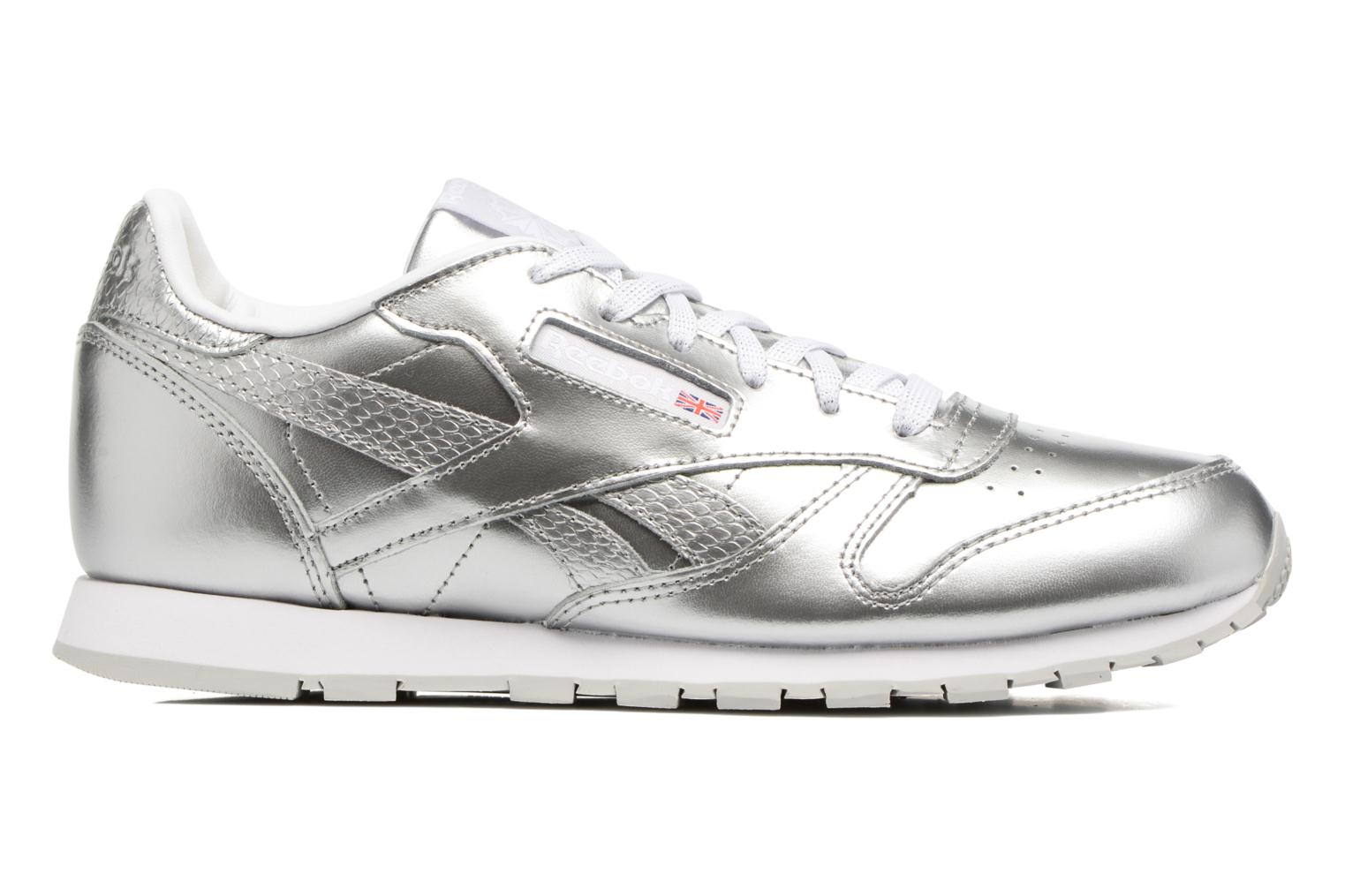 Classic Leather Metallic SILVER/WHITE