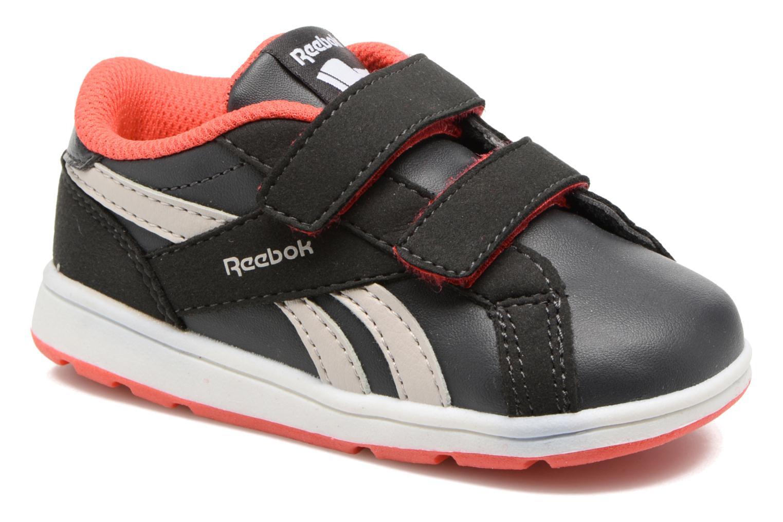 Reebok Royal Comp 2Ls  2V Coal/Sand Stone/Dayglow Red