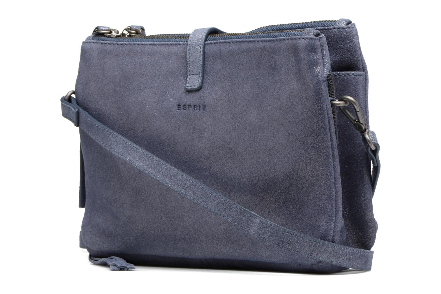 Venus Leather Shoulder bag Grey blue