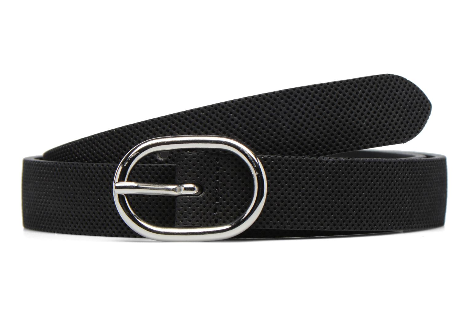 Perforated Leather Belt 25mm Black