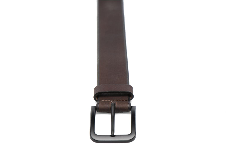 Black Buckle Leather Belt 40mm Dark Brown