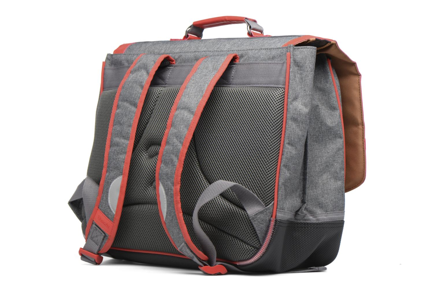 Cartable 41cm Classic Gris chiné/rouge