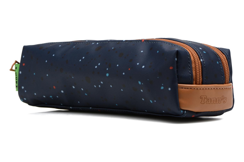 Scolaire Tann's Trousse double Galaxy Bleu vue portées chaussures