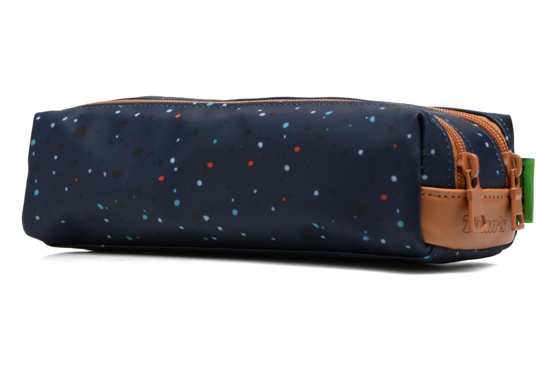 Scolaire Tann's Trousse double Galaxy Bleu vue droite