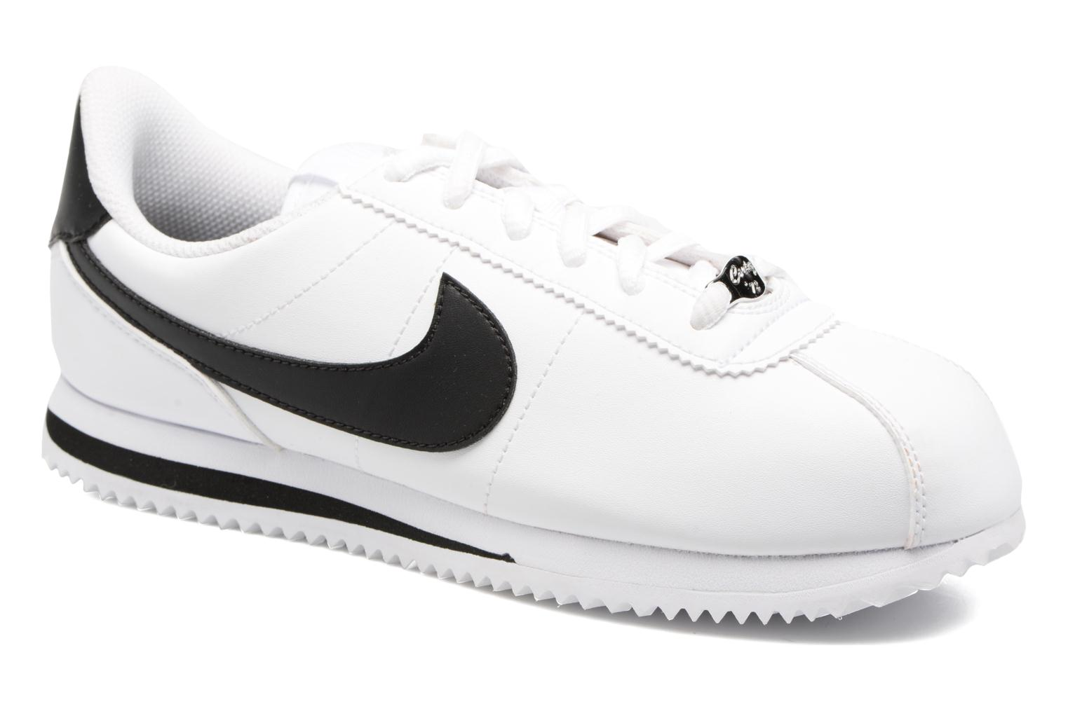 Navy/Gunsmoke-White Nike Cortez Basic Sl (Gs) (Bleu)