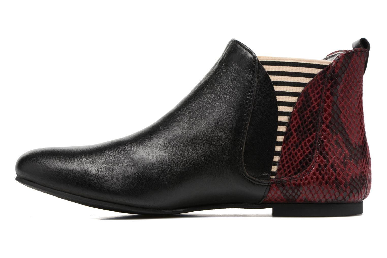 Bottines et boots Ippon Vintage Patch snake Bordeaux vue face