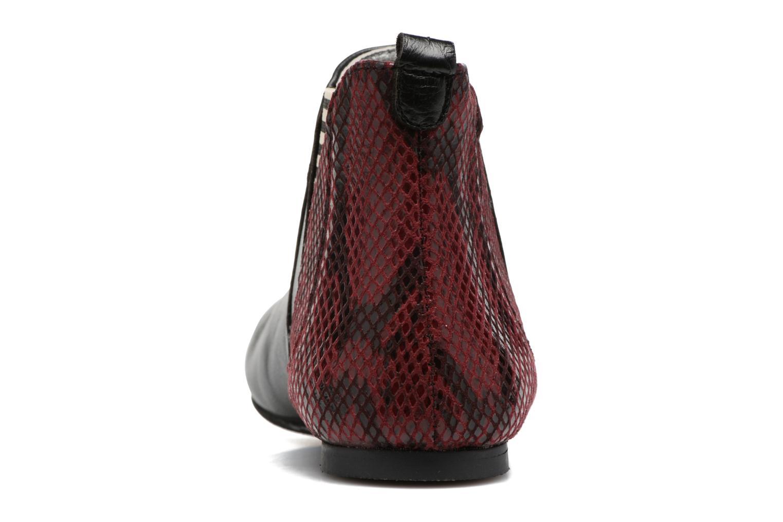 Bottines et boots Ippon Vintage Patch snake Bordeaux vue droite