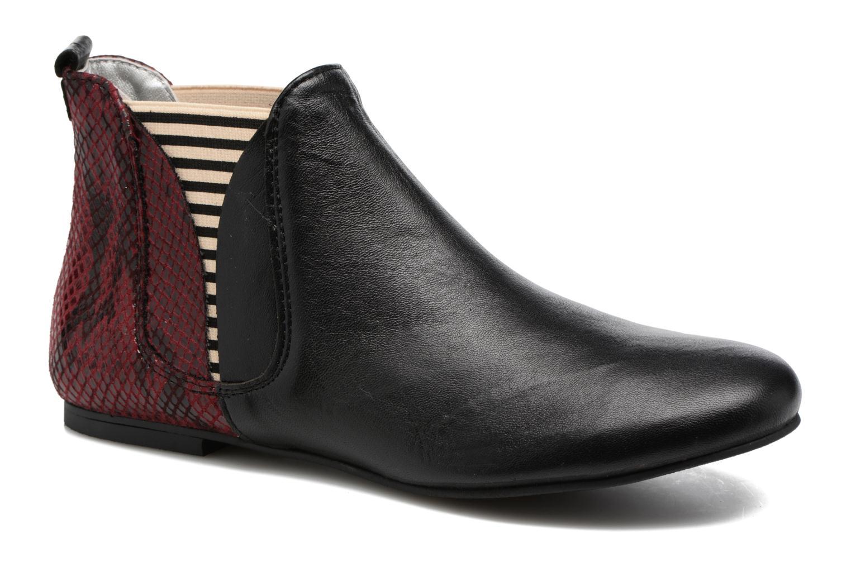 Bottines et boots Ippon Vintage Patch snake Bordeaux vue détail/paire