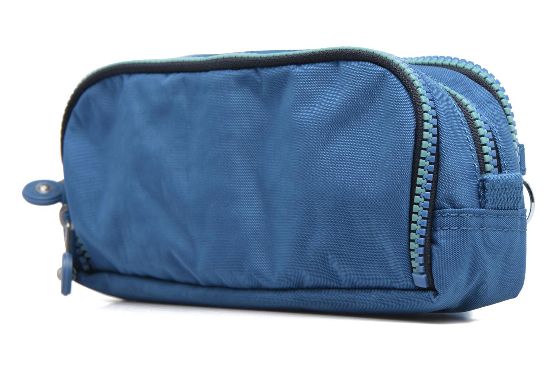 Scolaire kipling GITROY Trousse 3 compartiments Bleu vue droite