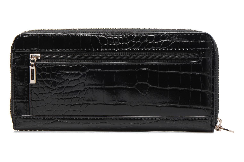 Portefeuille Façon Croco Large Zip Around Kamryn BLACK-BLA