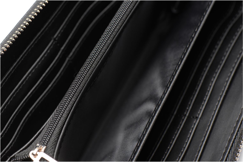 Petite Maroquinerie Guess Portefeuille Façon Croco Large Zip Around Kamryn Noir vue derrière