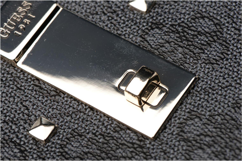 Petite Maroquinerie Guess Portefeuille Large Zip Around Nissana Noir vue gauche