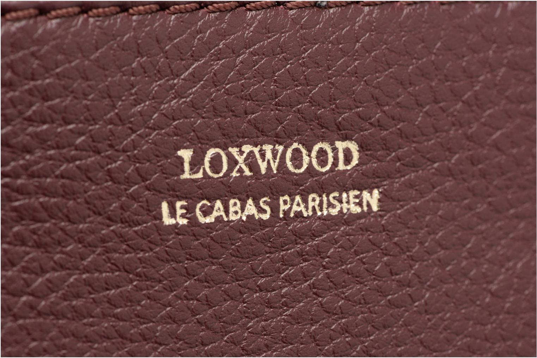 Sacs à main Loxwood Double Zip Crossover Bordeaux vue gauche