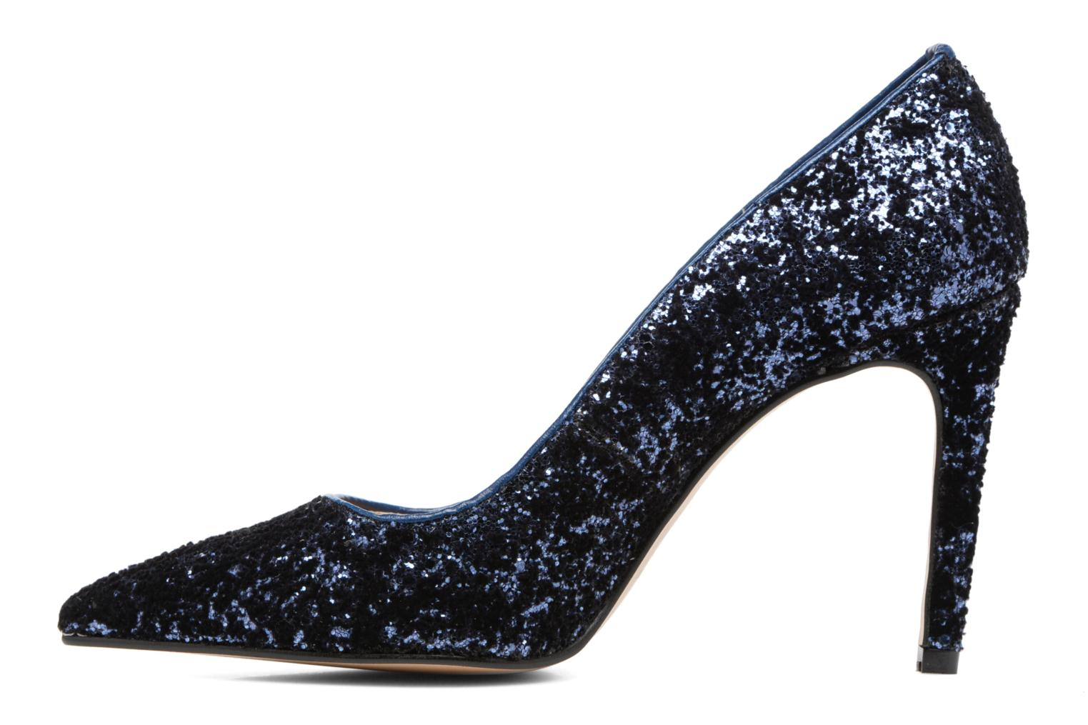 High heels Georgia Rose Shiny Blue front view