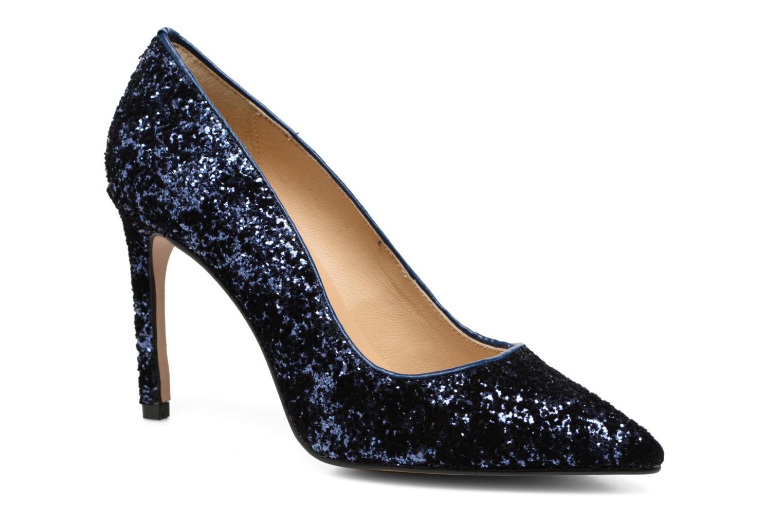 High heels Georgia Rose Shiny Blue detailed view/ Pair view