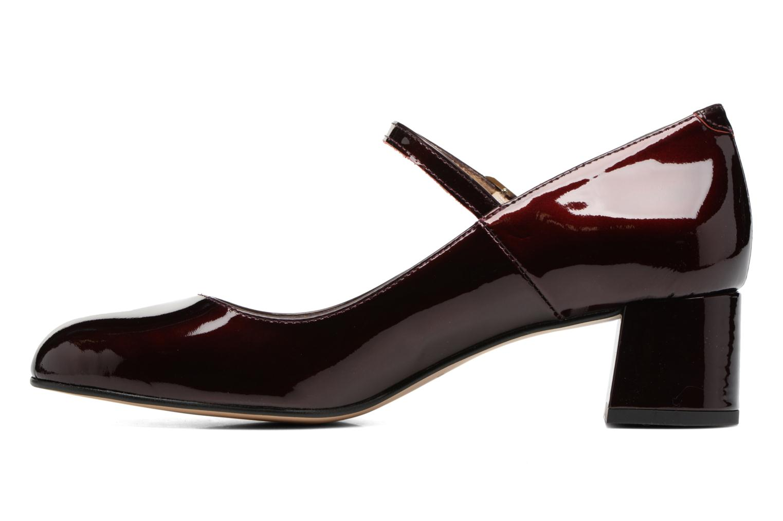 Satina Cuir Vernis Bordeaux