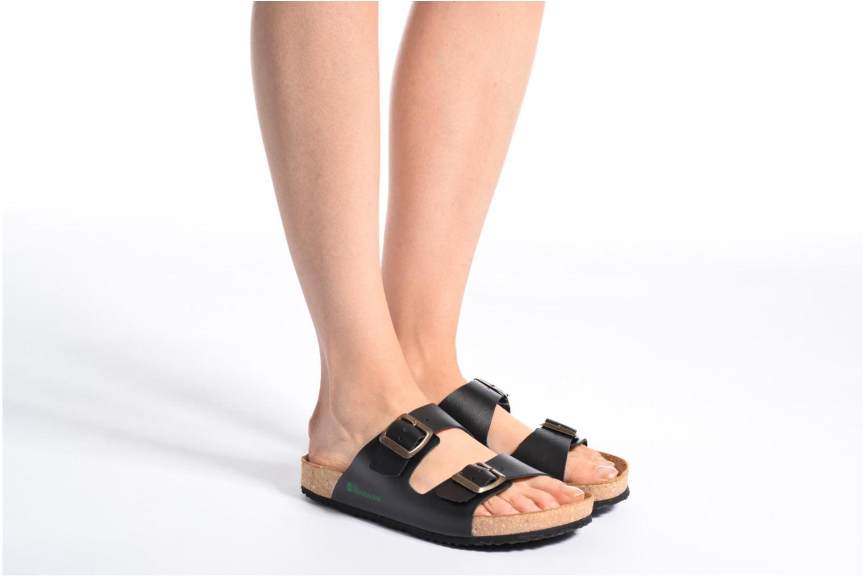 Sandales et nu-pieds El Naturalista Waraji NE30 Noir vue bas / vue portée sac