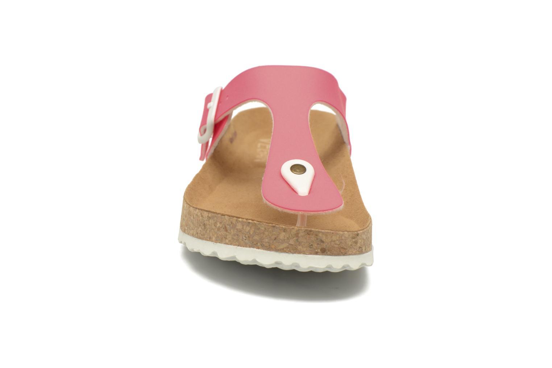 Mules et sabots El Naturalista Waraji NE69 Rose vue portées chaussures