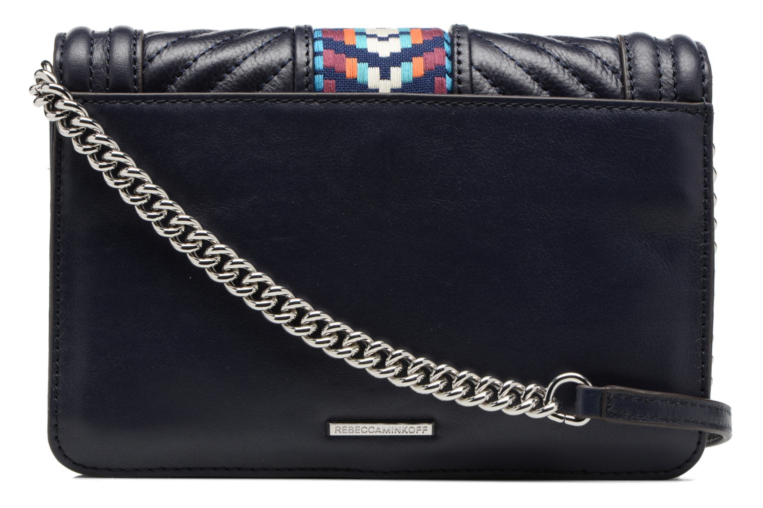 Sacs à main Rebecca Minkoff Jacquard Small Love Crossbody Bleu vue face