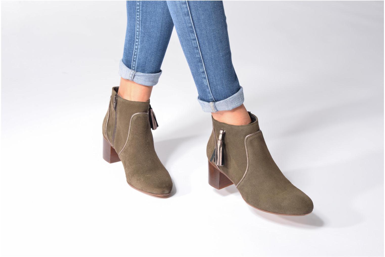 Bottines et boots Georgia Rose Cemode Bleu vue bas / vue portée sac