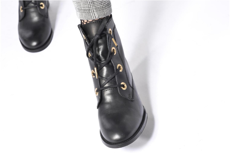 Bottines et boots Georgia Rose Celolon Noir vue bas / vue portée sac